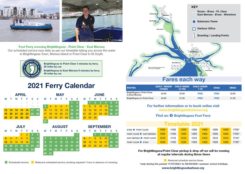 Foot Ferry Timetable
